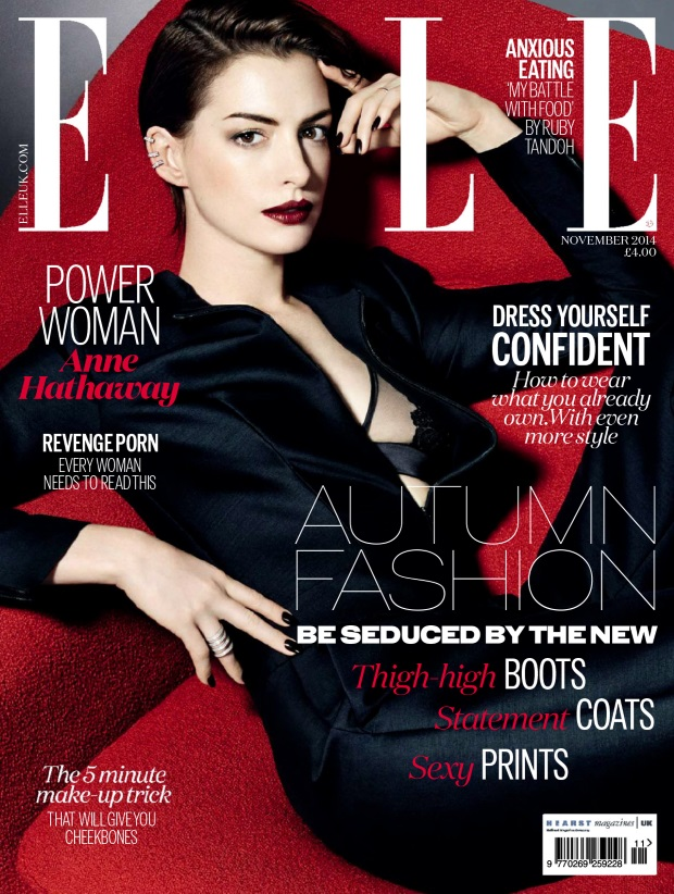 UK Elle November 2014 Anne Hathaway