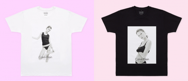 Opening Ceremony has collaborated with Calvin Klein on tees featuring a David Sims image of Kate Moss from 1993.