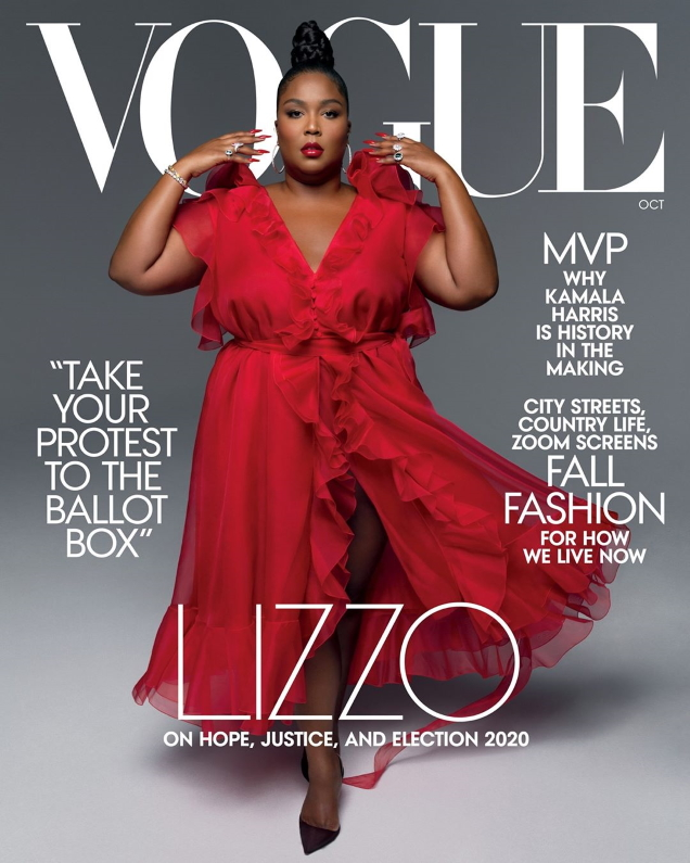 US Vogue October 2020 : Lizzo by Hype Williams