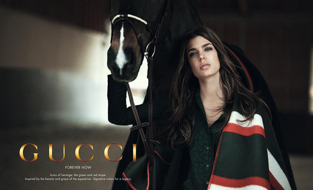 Charlotte Casiraghi for Gucci Forever Now by Peter Lindbergh