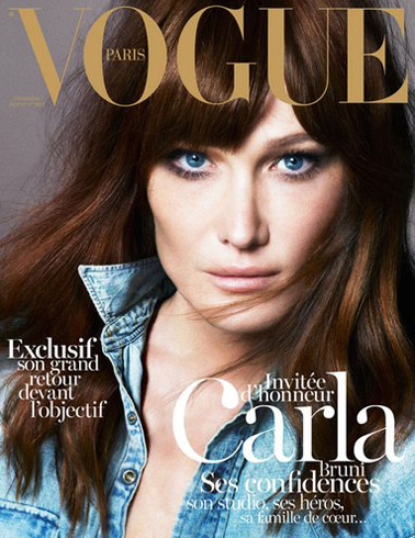 Vogue Paris Dec/Jan 2012-2013 - Carla Bruni photographed by Mert & Marcus