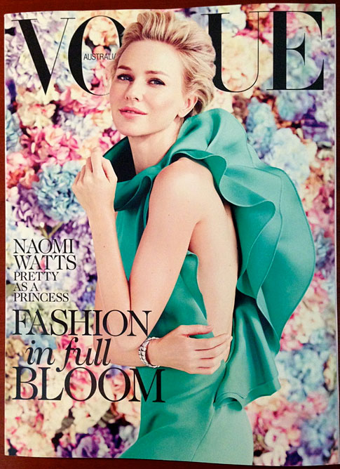 Vogue Australia February 2012 - Naomi Watts styled by Stevie Dance