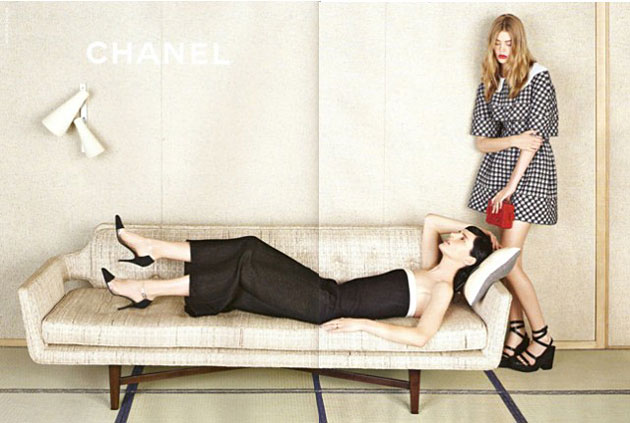 Stella Tennant and Ondria Hardin for Chanel Spring 2013 - photographed by Karl Lagerfeld