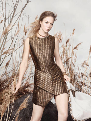 Salvatore Ferragamo Spring 2013 - Raquel Zimmermann photographed by David Sims