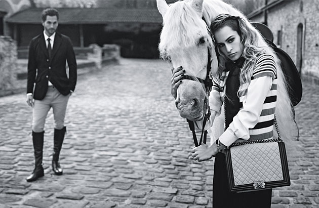 Chanel Boy Bag Spring 2013 campaign - Alice Dellal and Jake Davies